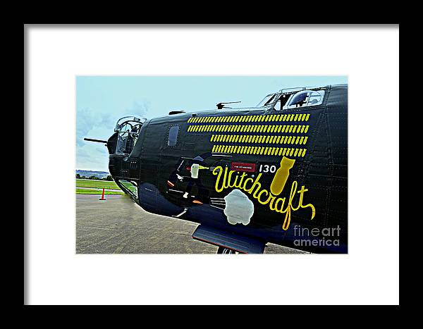 Wwi Vintage Aircraft B-24 Liberator Framed Print featuring the photograph B-24 Liberator by Len-Stanley Yesh
