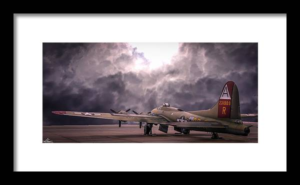 B17g Framed Print featuring the photograph B17g Nine-0-nine by Philip Rispin