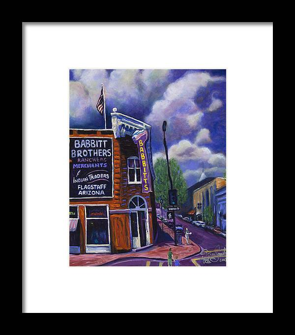 Historic Framed Print featuring the painting Babbitt Bldg. by Steve Lawton