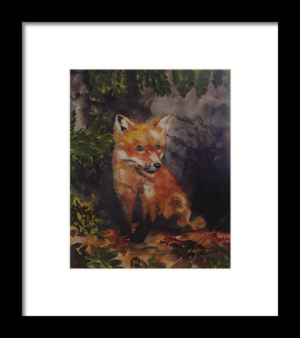 Fox Framed Print featuring the painting Babe In The Woods by Jean Blackmer