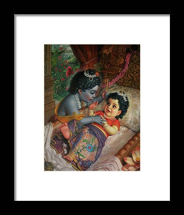 Baby Framed Print featuring the painting Babies by Satchitananda das Saccidananda das