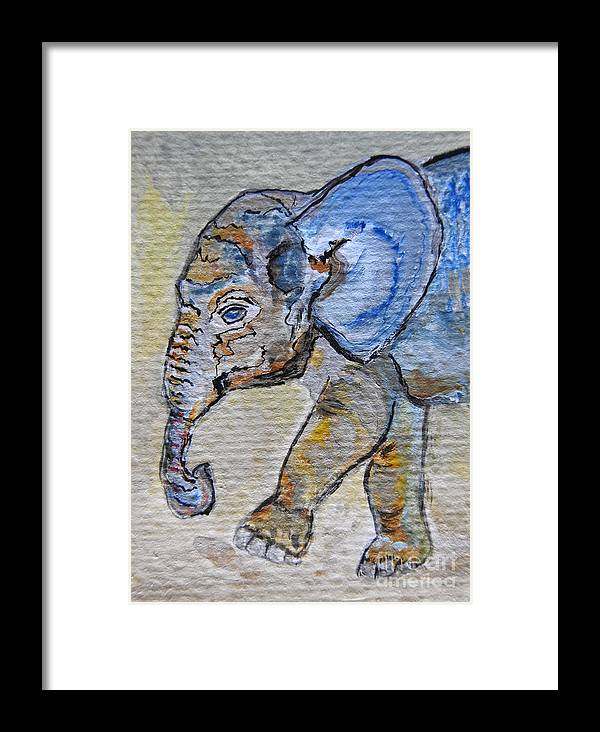 6bd4594dd Animals Framed Print featuring the photograph Baby Blue Elephant Painting  Prints by Ella Kaye Dickey