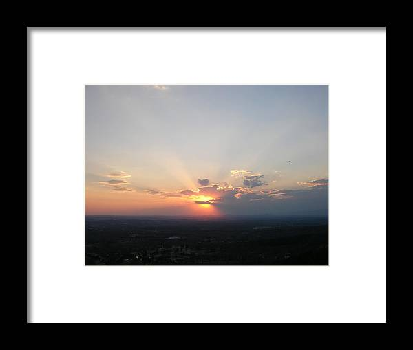 Sunset Framed Print featuring the photograph Baby Blue by John Geck