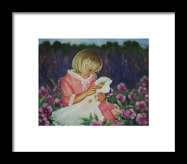 Portrait Framed Print featuring the painting Baby Doll by Joni McPherson