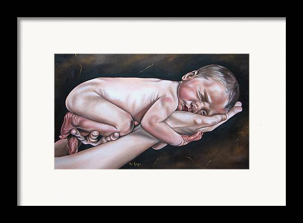 Figure Framed Print featuring the painting Baby by Ilse Kleyn