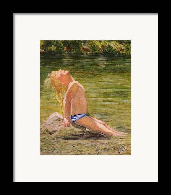 Portrait Framed Print featuring the painting Baby Sun Goddess by Patricia Ortman