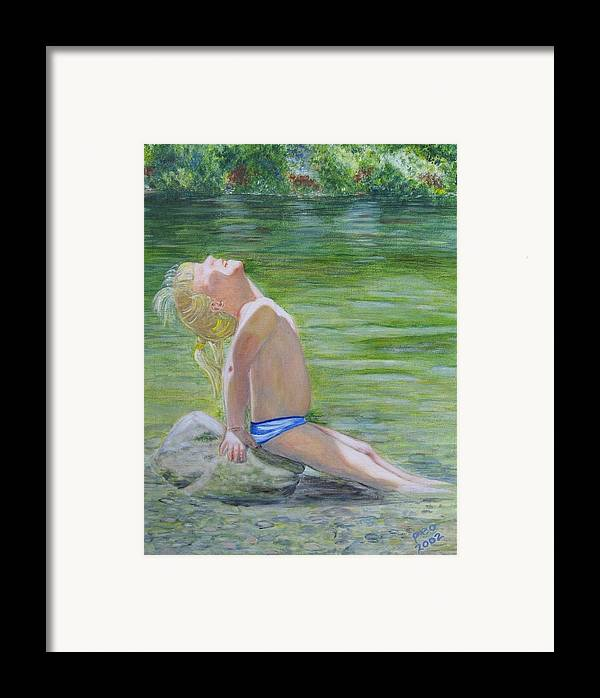 Framed Print featuring the painting Baby Sun Goddess Too by Patricia Ortman