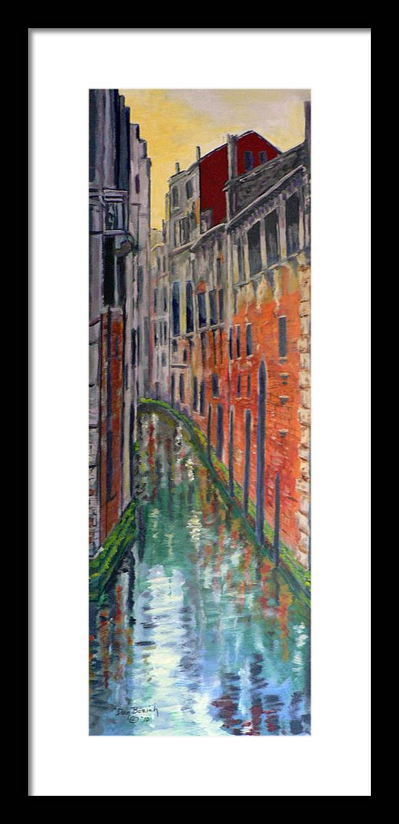 Venice Canal Framed Print featuring the painting Back Alley by Dan Bozich