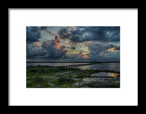 Framed Print featuring the photograph Back Bay Sunrise by R Michelle Stewart