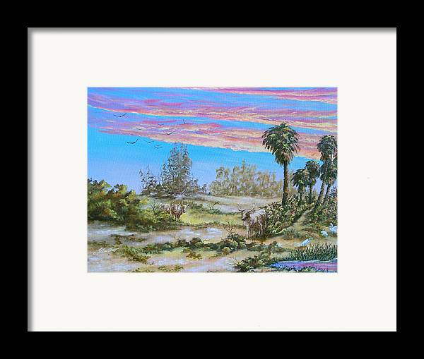 Landscape Framed Print featuring the painting Back Forty One by Dennis Vebert