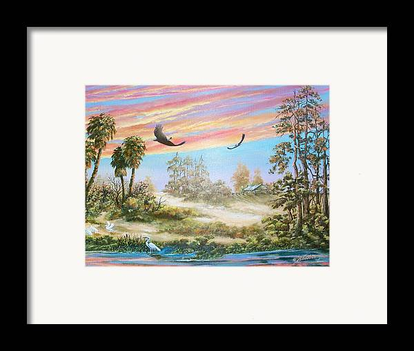Landscape Framed Print featuring the painting Back Forty Two by Dennis Vebert