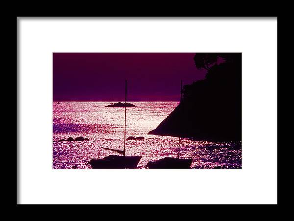 Abstract Framed Print featuring the photograph Back Lit Boats 2 by Lyle Crump