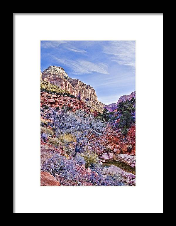 Zion Framed Print featuring the digital art Back Of Zion by Ches Black