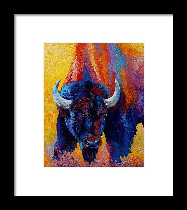 Wildlife Framed Print featuring the painting Back Off by Marion Rose