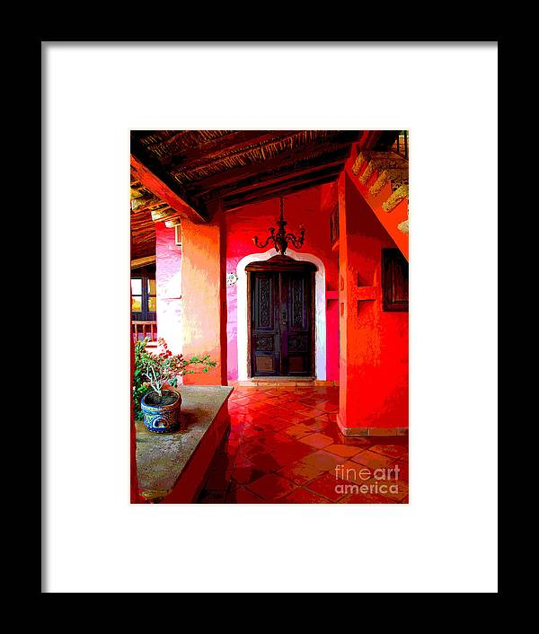 Darian Day Framed Print featuring the photograph Back Passage By Darian Day by Mexicolors Art Photography