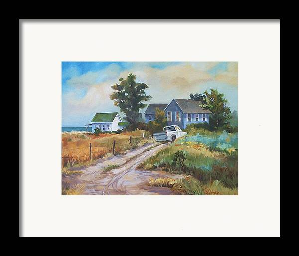 Landscape Framed Print featuring the painting Back Road By The Bay by Dianna Willman