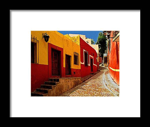 Darian Day Framed Print featuring the photograph Back Street Guanajuato by Mexicolors Art Photography