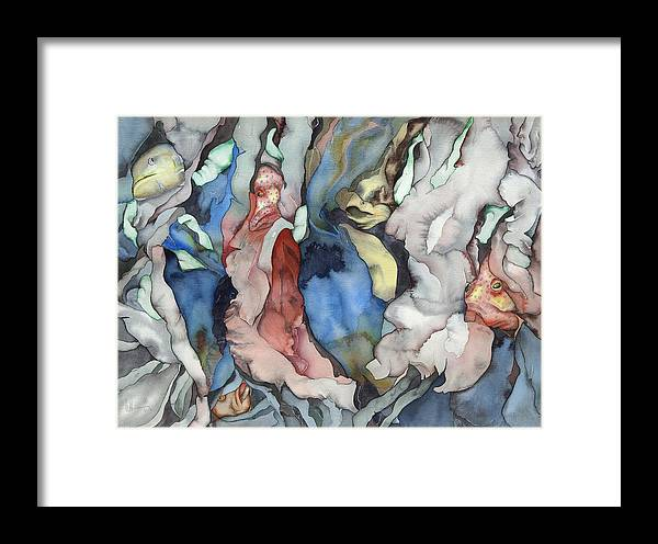 Sealife Framed Print featuring the painting Back To My Soul by Liduine Bekman