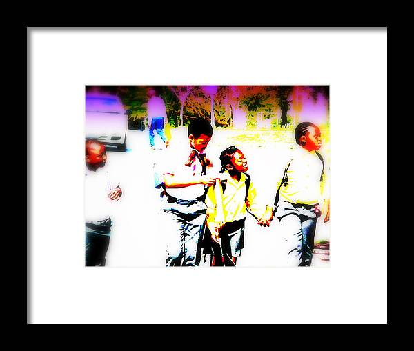Soweto Framed Print featuring the photograph Back To School In Soweto by Funkpix Photo Hunter