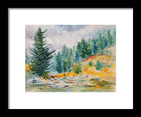 Landscape Framed Print featuring the painting Afternoon in the Backcountry by Andrew Gillette