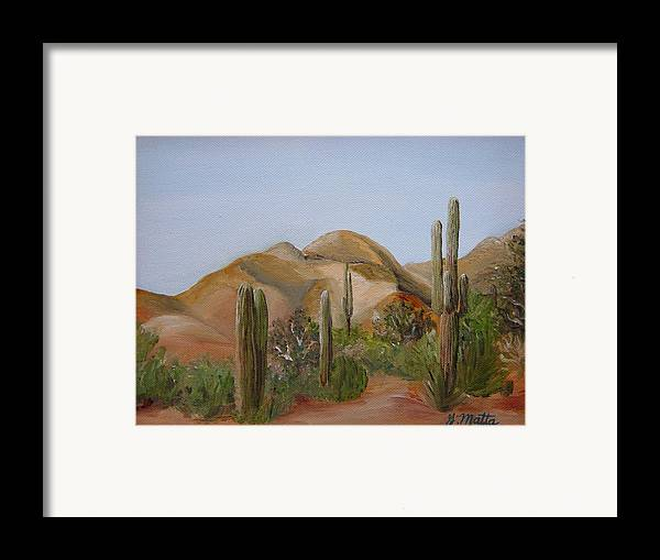 Landscape Framed Print featuring the painting Backdoor View by Gretchen Matta