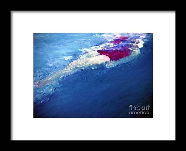 Water Framed Print featuring the painting Backfloat by Lisa Baack
