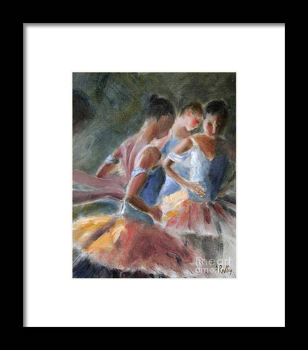 Figurative Framed Print featuring the painting Backstage Costume Change by Ann Radley