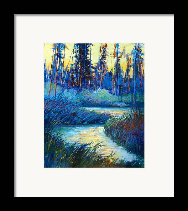 Landscape Framed Print featuring the painting Backwater Light by Dale Witherow