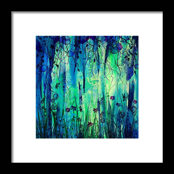 Abstract Framed Print featuring the digital art Backyard Dreamer by William Russell Nowicki