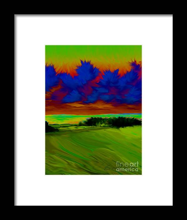 Landscape Framed Print featuring the painting Backyard by Everett White