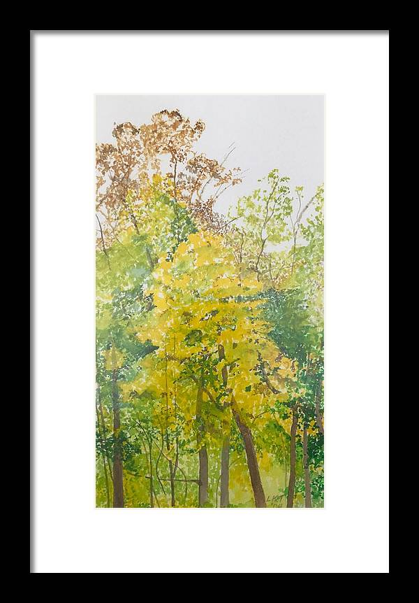 Autumn Framed Print featuring the painting Backyard by Leah Tomaino