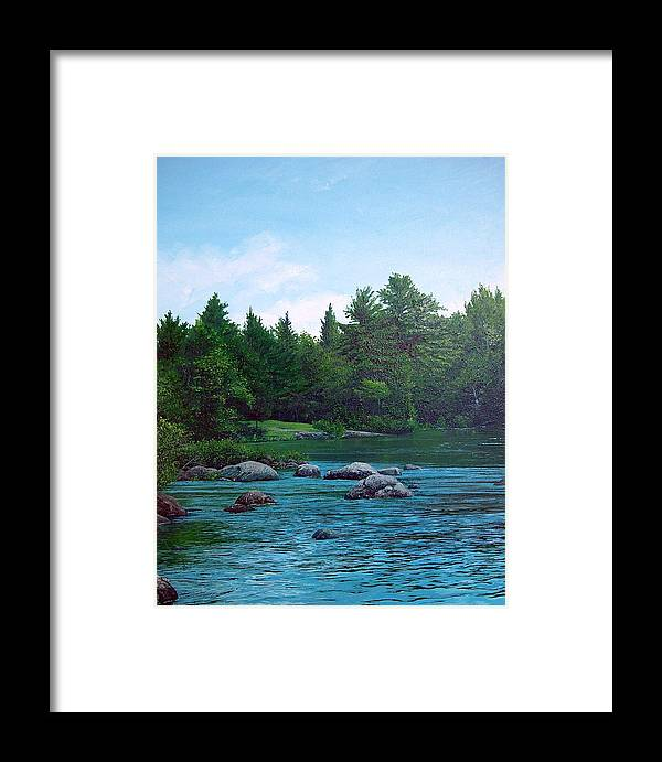 Landscape Framed Print featuring the painting Backyard by Richard Ong