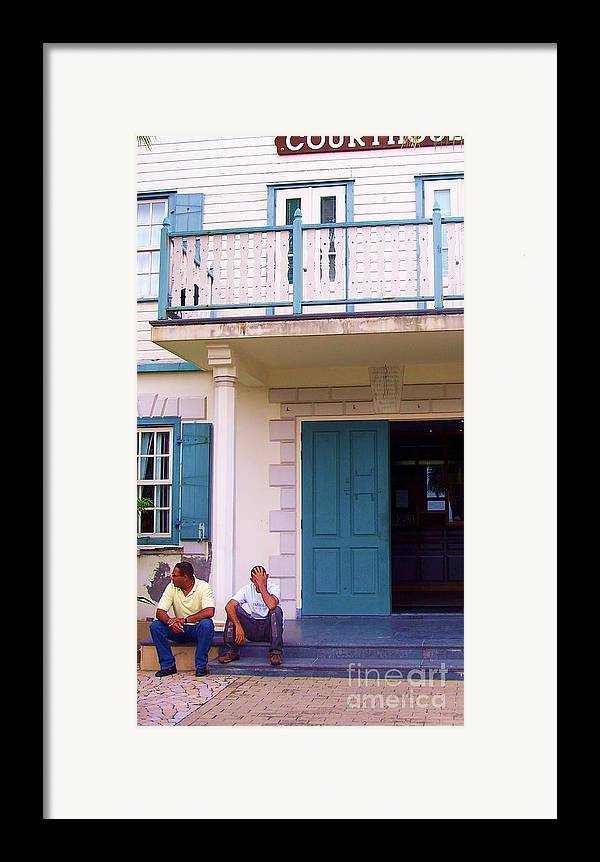 Building Framed Print featuring the photograph Bad Day In Court by Debbi Granruth