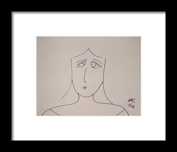 Black And White Framed Print featuring the drawing Bad Habit by Nicholas A Roes