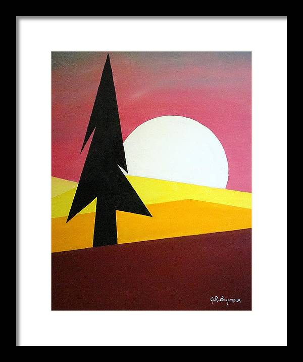 Impressionist Painting Framed Print featuring the painting Bad Moon Rising by J R Seymour