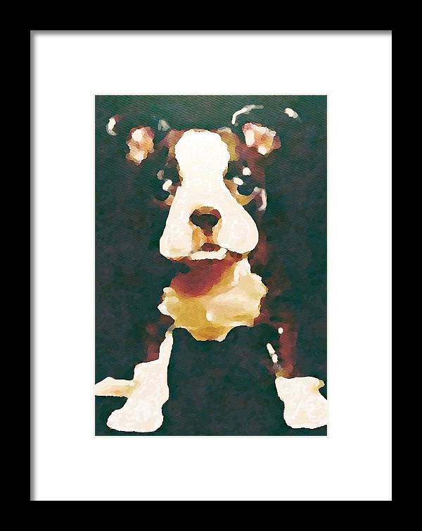 Boston Terrier Framed Print featuring the painting Bad To The Bone by Jennifer Buerkle