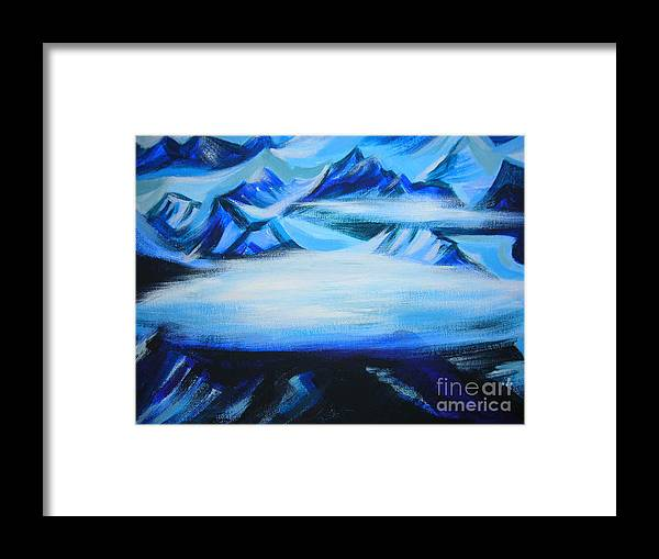 Landscape Framed Print featuring the painting Baffin Island by Anna Duyunova