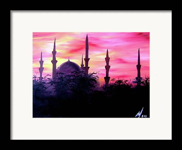 Painting Framed Print featuring the painting Baghdad Sunset by Michael McKenzie