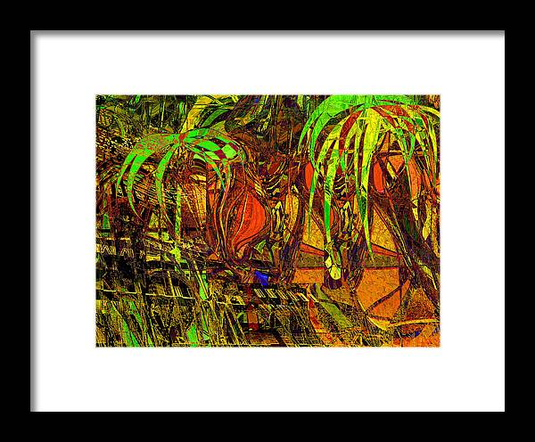 Abstract Framed Print featuring the painting Bahama Afternoon by Anne Weirich