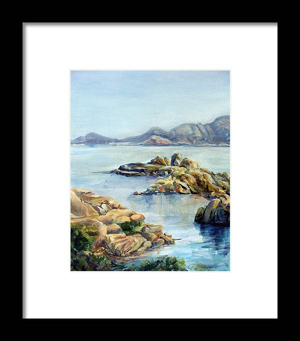 Landscape Framed Print featuring the painting Baie by Muriel Dolemieux