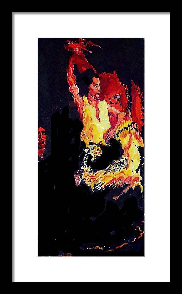 Figurative Framed Print featuring the painting Baila Gitana Baila by Elio Lopez