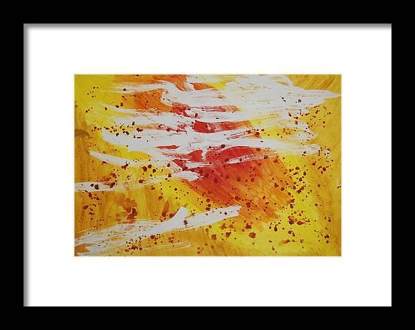 Abstract Framed Print featuring the painting Bailando En El Sol by Lauren Luna