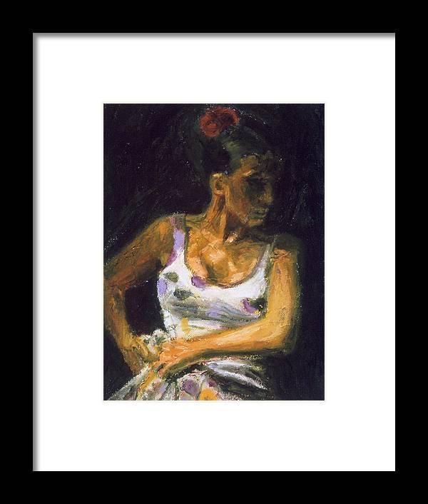 Flamenco Framed Print featuring the painting Bailaora Con Lunares I by LB Zaftig