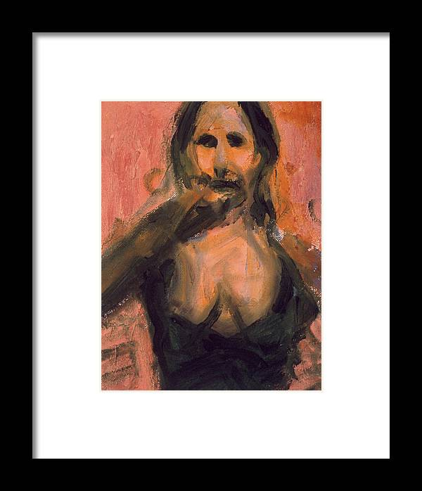 Flamenco Framed Print featuring the painting Bailaora Iv by LB Zaftig