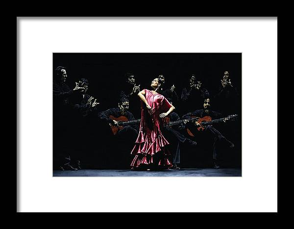Flamenco Framed Print featuring the painting Bailarina Orgullosa Del Flamenco by Richard Young