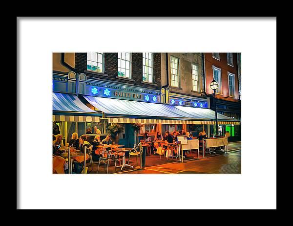 Framed Print featuring the painting Bailey Bar, Dublin by Kathryn Bailey