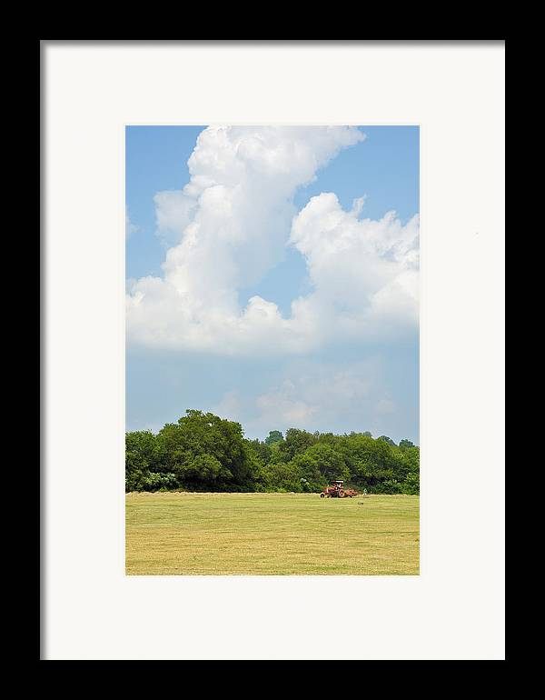 Landscapes Framed Print featuring the photograph Bailing by Jan Amiss Photography