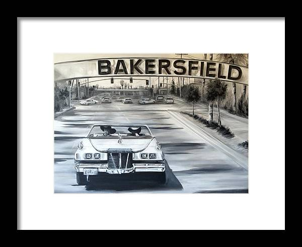 Bakersfield Framed Print featuring the painting Bakersfield by Rebecca Aguilar