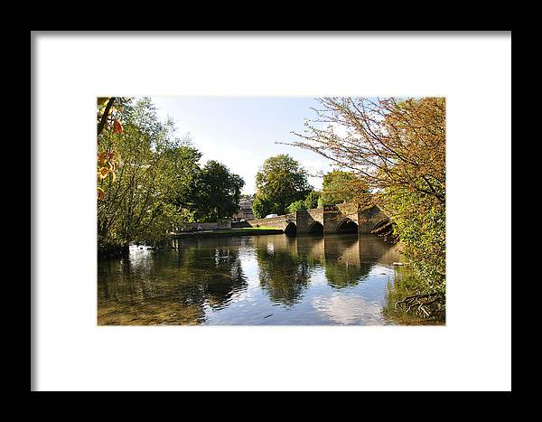 Europe Framed Print featuring the photograph Bakewell Bridge And The River Wye by Rod Johnson