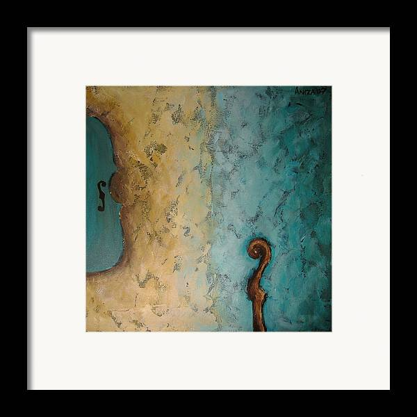 Violin Framed Print featuring the painting Balance by Aliza Souleyeva-Alexander
